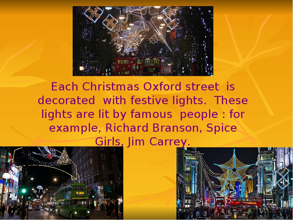 Each Christmas Oxford street is decorated with festive lights. These lights a...