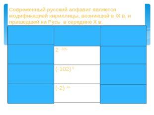 Закрасьте те клетки таблицы, в которых записаны выражения, имеющие отрицатель