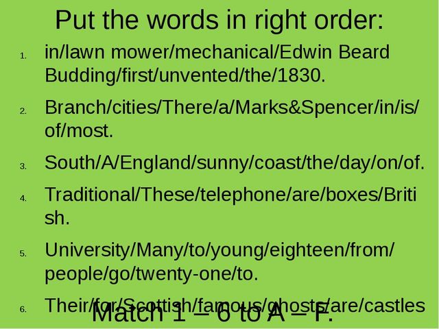 Put the words in right order: in/lawn mower/mechanical/Edwin Beard Budding/fi...