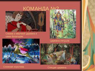 КОМАНДА №2 Сказка о мёртвой царевне и семи богатырях Царевна-лягушка Снежная