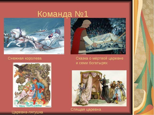 Команда №1 Снежная королева Сказка о мёртвой царевне и семи богатырях Царевна...