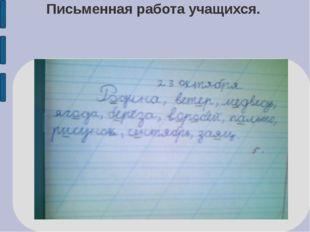 Письменная работа учащихся.