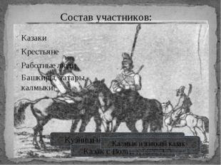 Кузница на уральском заводе Группа уральских казаков Казак с Волги и казах Ба