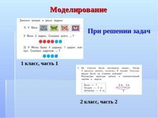 2 класс, часть 2 1 класс, часть 1 Моделирование При решении задач