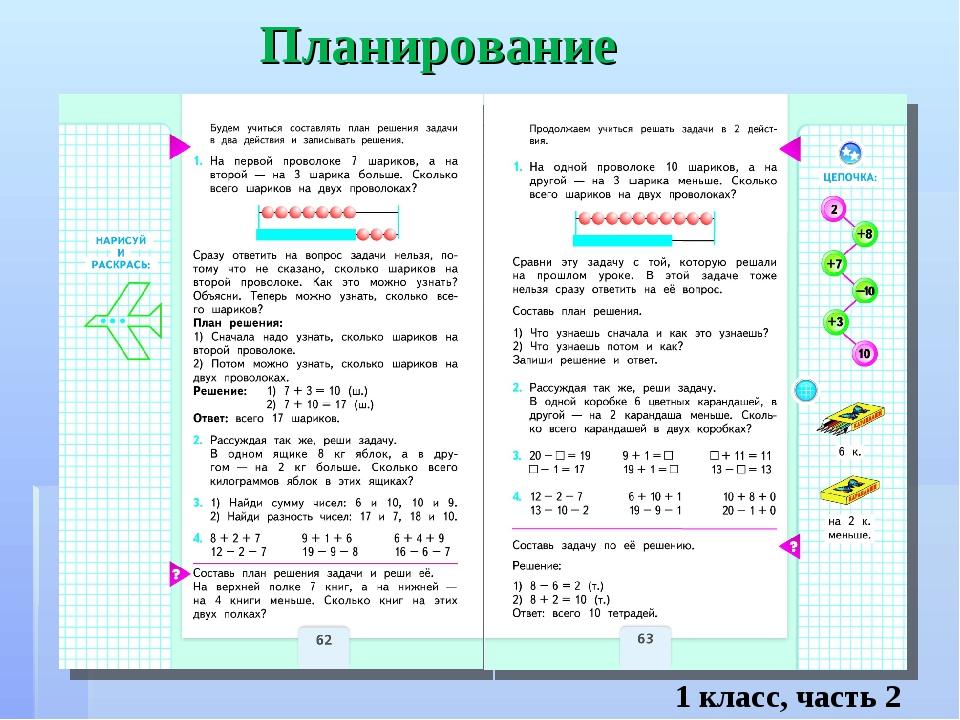 Планирование 1 класс, часть 2