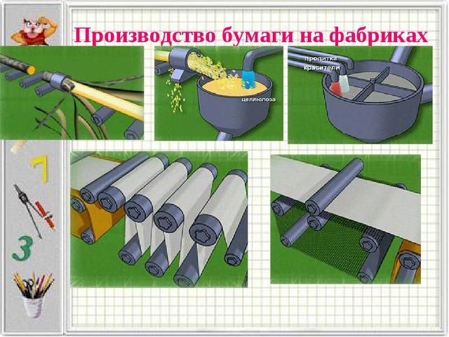 Производство бумаги на фабриках