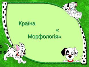 Країна « Морфологія»