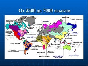 От 2500 до 7000 языков насчитывается на планете
