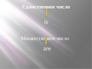 Единственное число Множественное число is are