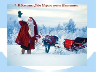 В Эстонии Деда Мороза зовут Йыулывана