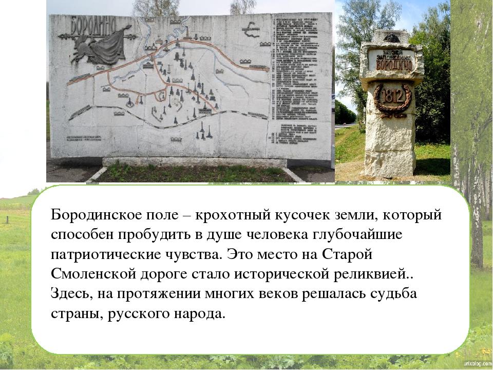 Бородинское поле – крохотный кусочек земли, который способен пробудить в душ...