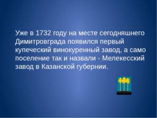 Уже в 1732 году на месте сегодняшнего Димитровграда появился первый купеческ