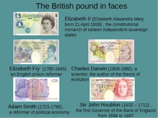 The British pound in faces Elizabeth Fry (1780-1845), an English prison refor