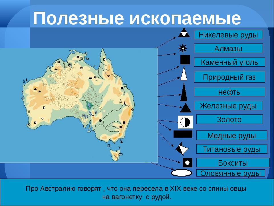 Про Австралию говорят , что она пересела в ХIХ веке со спины овцы на вагонетк...