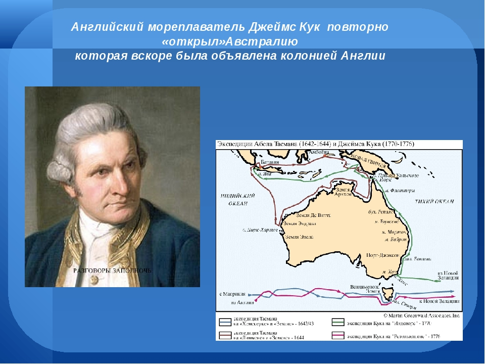 james cook and australia