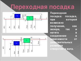 Переходная посадка Переходная посадка: посадка, при которой возможно получени