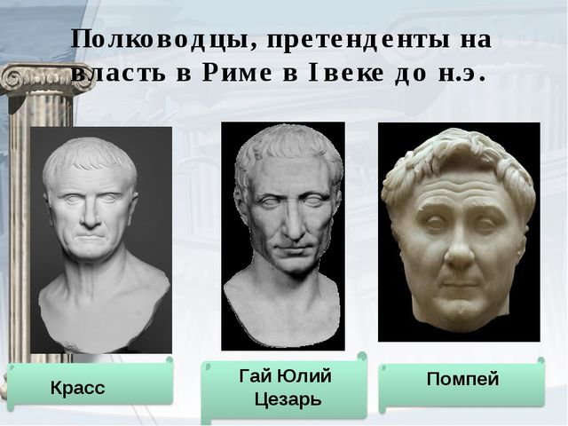Полководцы, претенденты на власть в Риме в I веке до н.э.