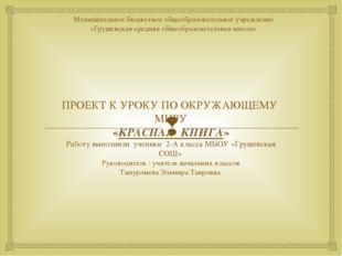 Муниципальное бюджетное общеобразовательное учреждение «Грушевская средняя об
