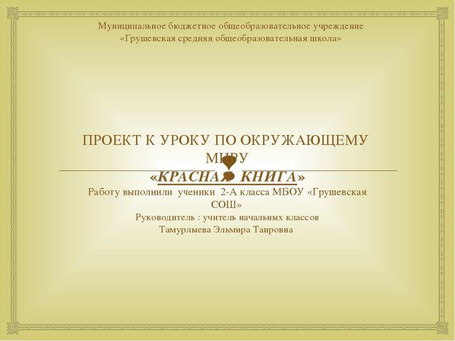 Муниципальное бюджетное общеобразовательное учреждение «Грушевская средняя об...