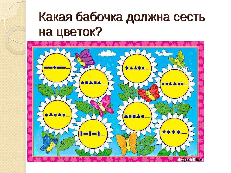 Какая бабочка должна сесть на цветок?