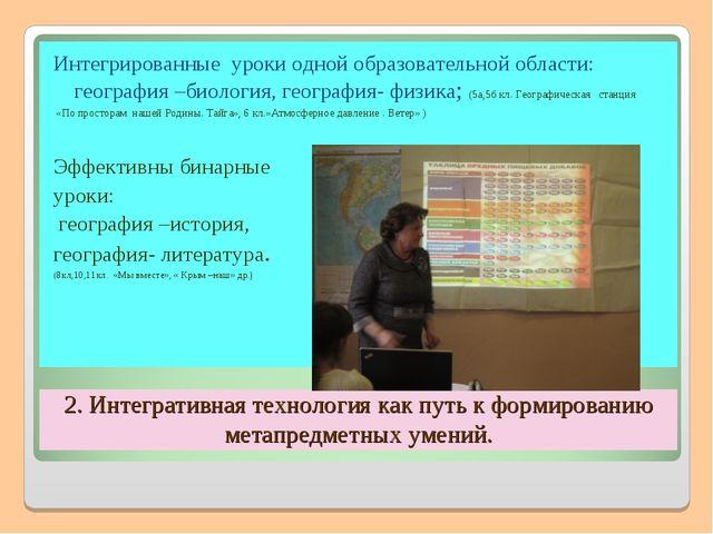 2. Интегративная технология как путь к формированию метапредметных умений. Ин...