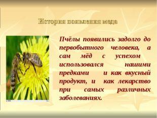 Пчёлы появились задолго до первобытного человека, а сам мёд с успехом исполь
