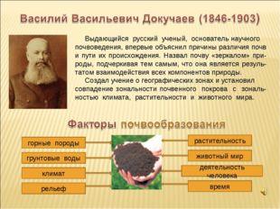 Выдающийся русский ученый, основатель научного почвоведения, впервые объясни