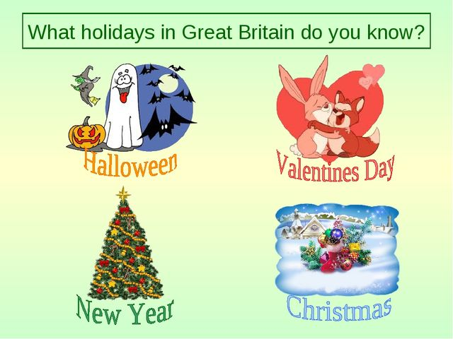 What holidays in Great Britain do you know?
