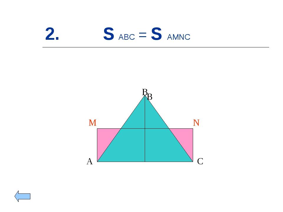 2. S ABC = S AMNC A B C M N B