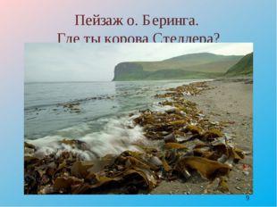Пейзаж о. Беринга. Где ты корова Стеллера? http://www.photoforum.ru/f/photo/0