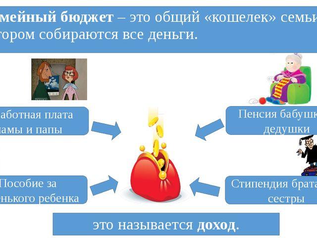 Семейный бюджет – это общий «кошелек» семьи, в котором собираются все деньги....