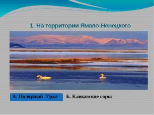 1. На территории Ямало-Ненецкого автономного округа находится горная гряда.