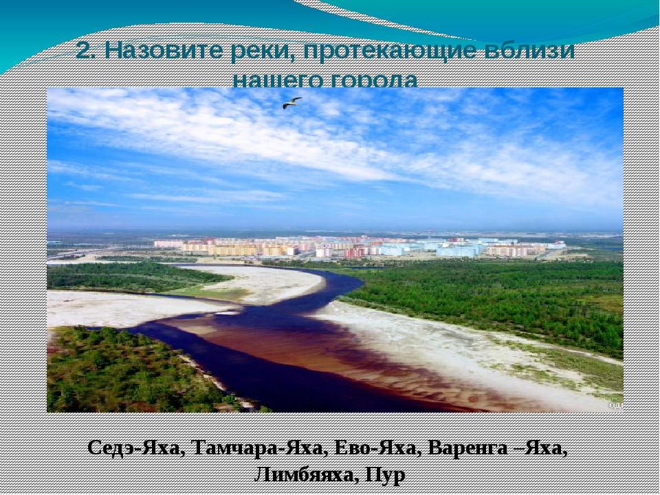 2. Назовите реки, протекающие вблизи нашего города Седэ-Яха, Тамчара-Яха, Ево...