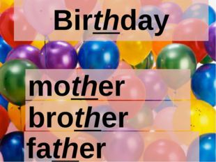 Birthday mother brother father