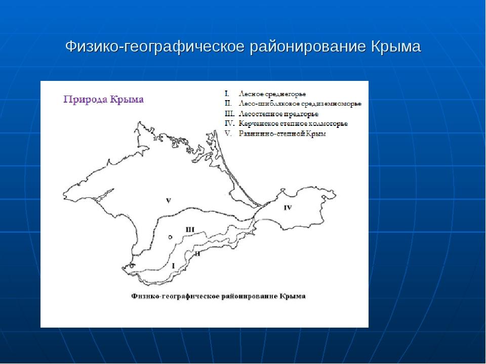 Физико-географическое районирование Крыма