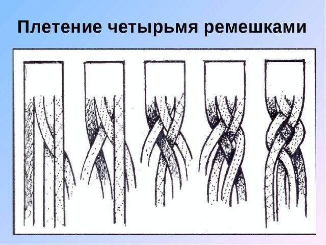 Плетение четырьмя ремешками