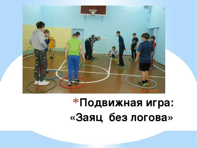 Подвижная игра: «Заяц без логова»
