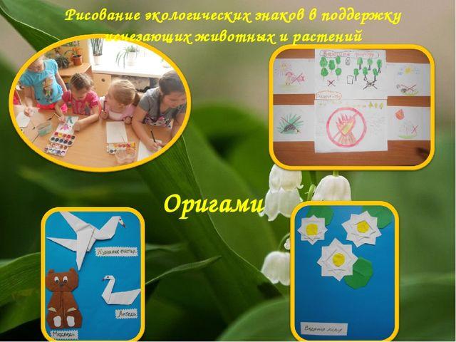 Рисование экологических знаков в поддержку исчезающих животных и растений Ори...