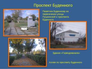 Проспект Буденного Памятник Буденному на пересечении улицы Пушкинской и просп