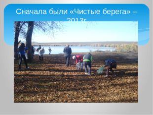 Сначала были «Чистые берега» – 2013г