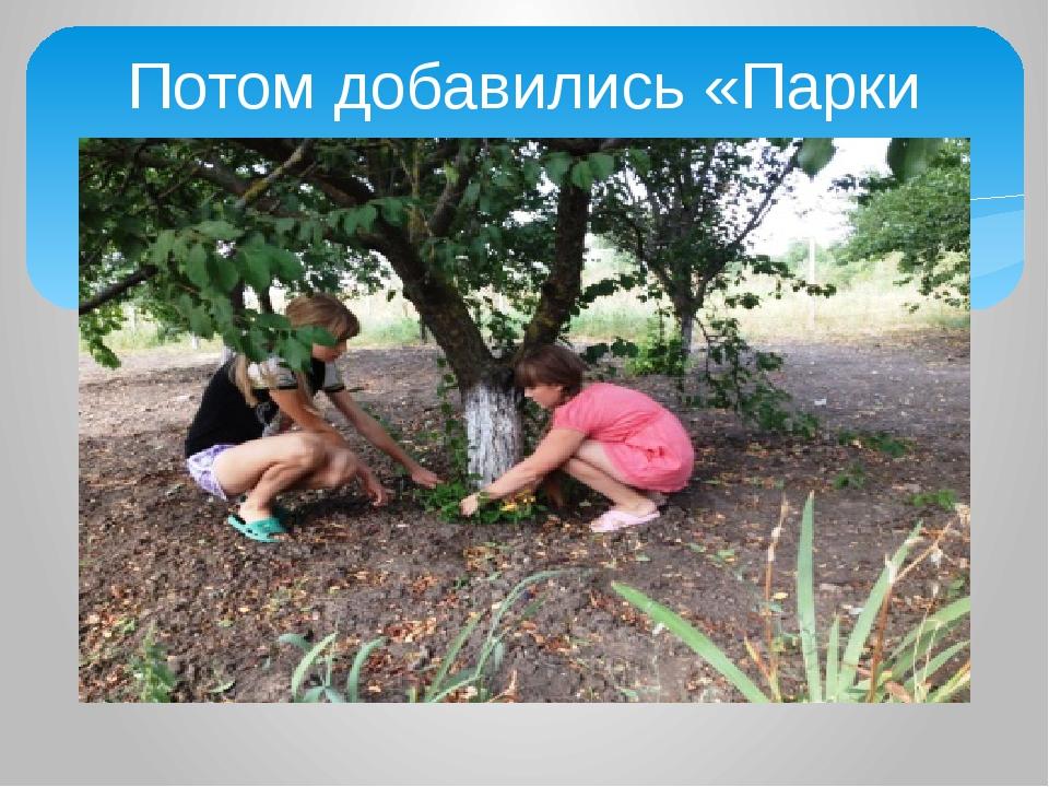 Потом добавились «Парки Кубани»