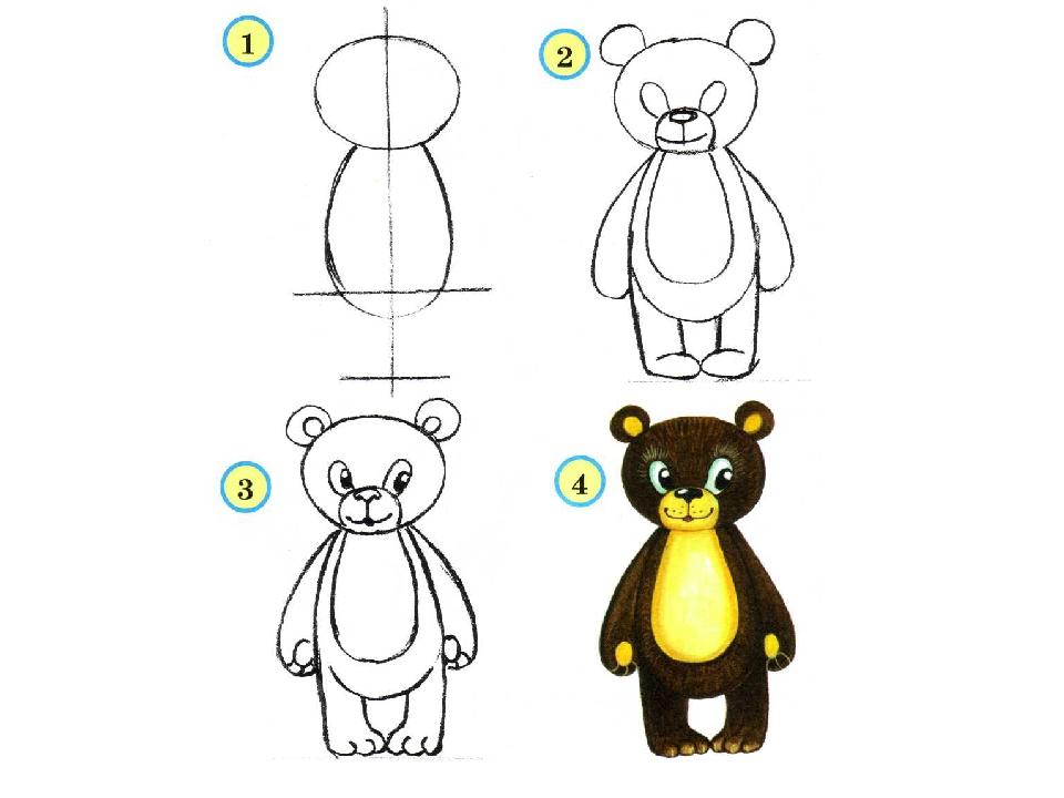 Нарисованные ведмеди