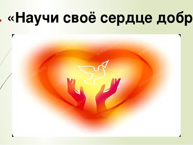 «Научи своё сердце добру»