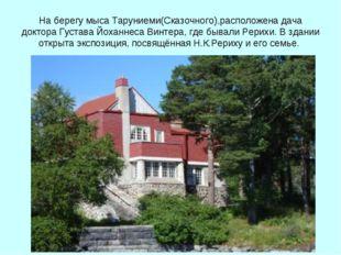 На берегу мыса Таруниеми(Сказочного),расположена дача доктора Густава Йоханне