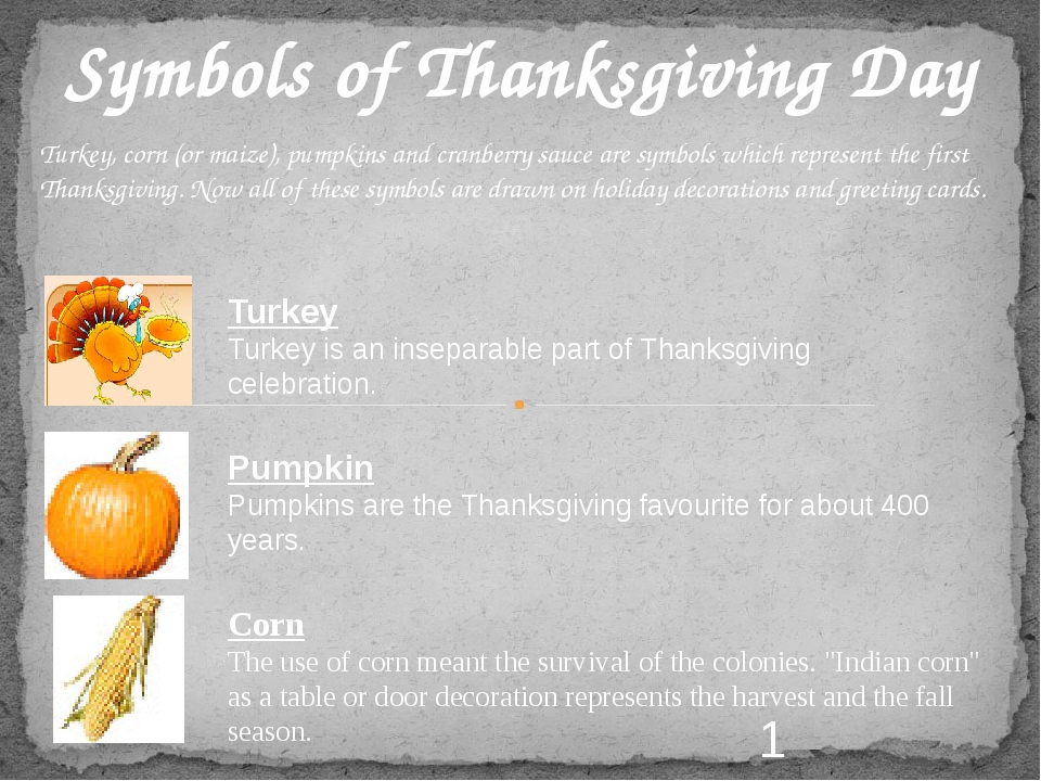 Symbols of Thanksgiving Day Pumpkin Pumpkins are the Thanksgiving favourite f...