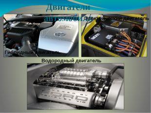 Двигатели автомобиля Водородный двигатель Гибридный двигатель Электрический д