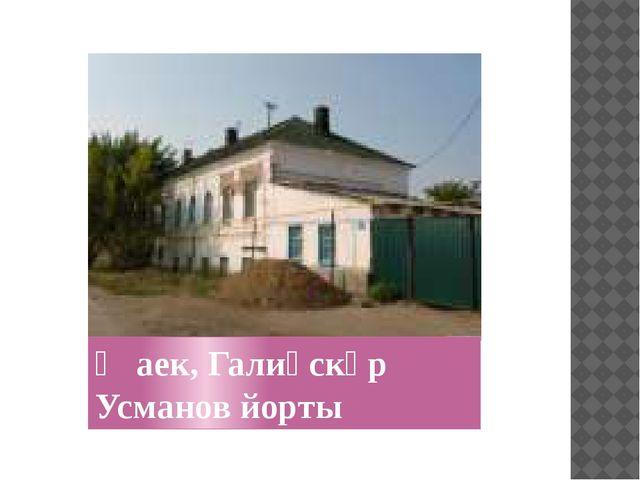Җаек, Галиәскәр Усманов йорты