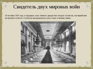 Свидетель двух мировых войн 10 октября 1915 года в парадных залах Зимнего дво