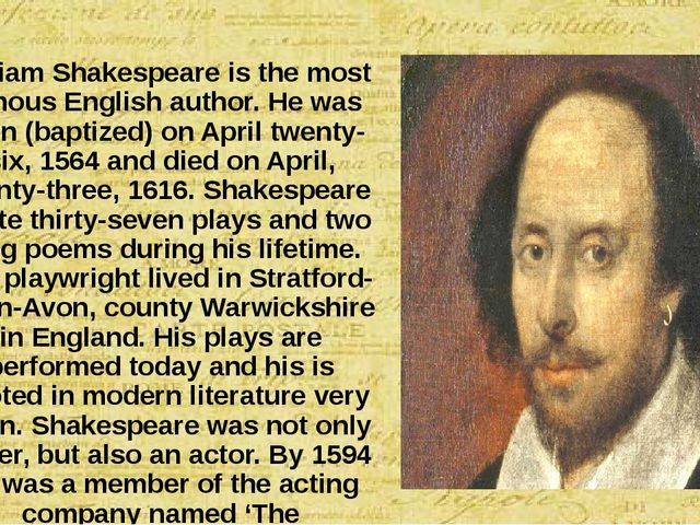 the life of william shakespeare and his literary career
