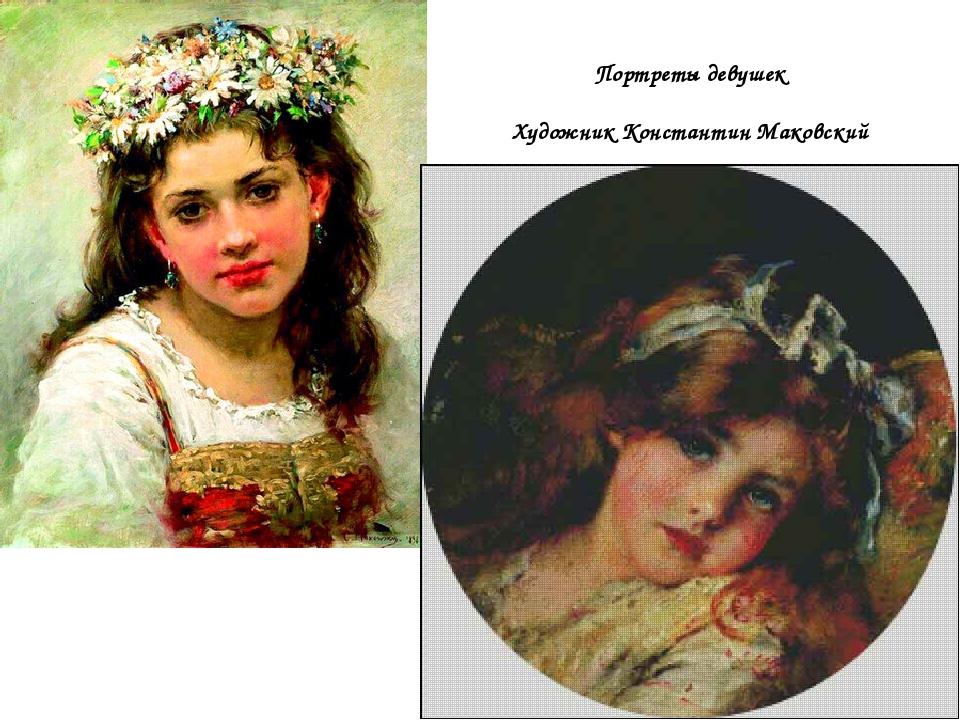 Портреты девушек Художник Константин Маковский